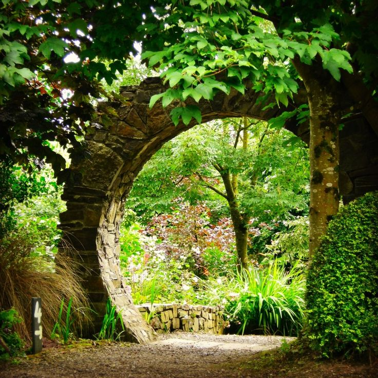 Through the wall at Knockpatrick Gardens, Co Limerick, Ireland