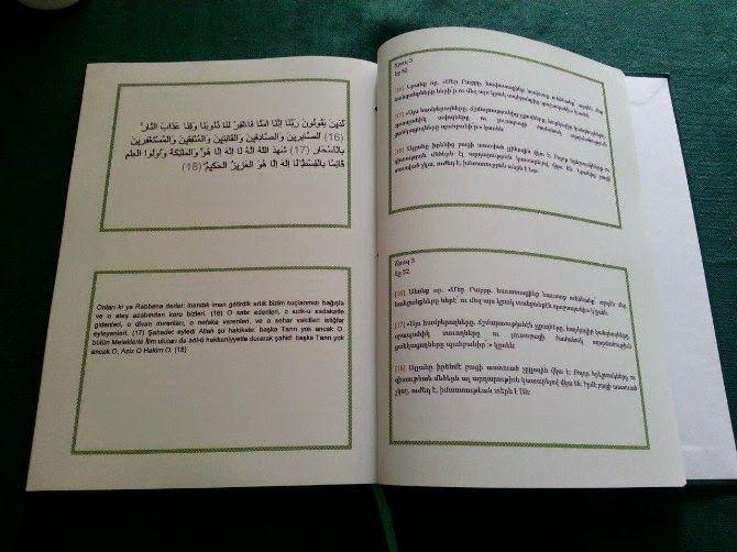 Traducción armenia del Corán en Turquía