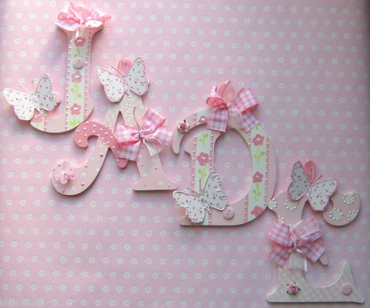 SHABBY* GIRLS  NAME LETTERS LAURA ASHLEY BUTTERFLIES PRICED PER LETTER NOT NAME in Home, Furniture & DIY, Home Decor, Plaques & Signs | eBay!