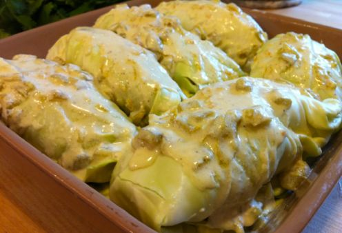 Simple Cabbage Enchiladas Recipe – Hip2Save / #lowcarb shared on https://facebook.com/lowcarbzen