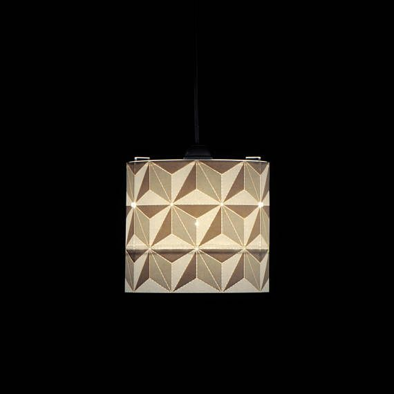 Small Paper Lampshade With 3d Stars Pattern 20cm Paper Lampshade Geometric Decor Lamp Shades