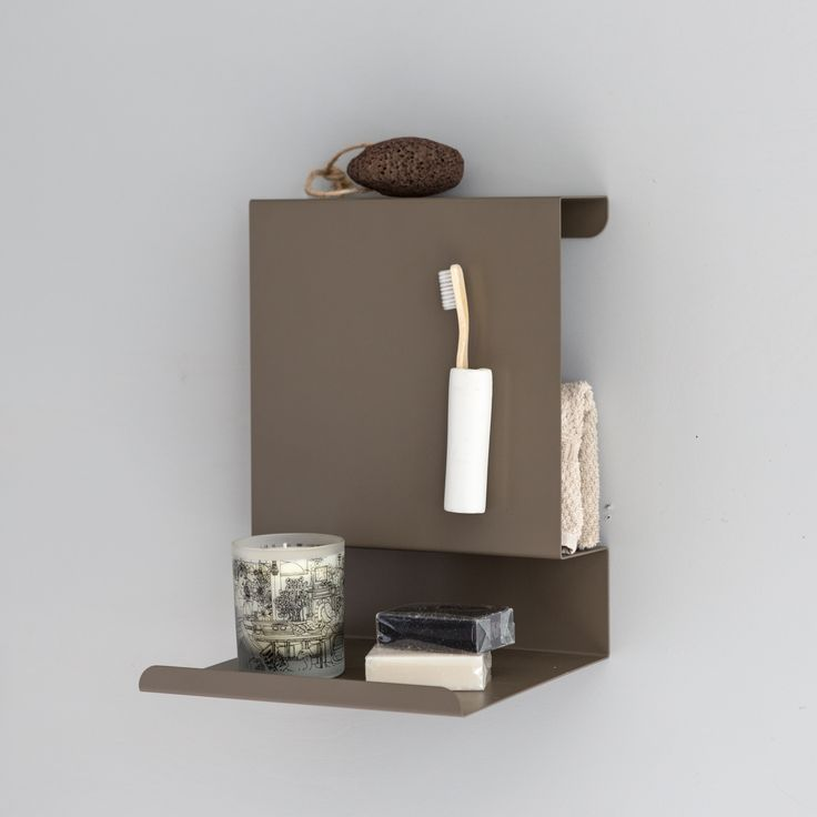 Magnetic Ledge:able shelf in the bathroom