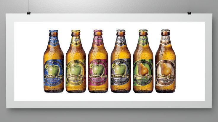 Branding for Golden Cap Cider (circa 1998-2001)