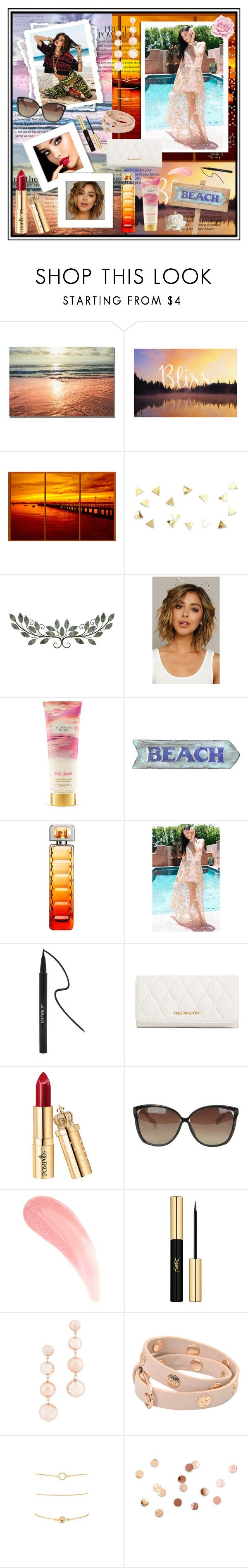 """""""Sunset"""" by xorozetaxo ❤ liked on Polyvore featuring Victoria's Secret, HUGO, Forever 21, Vera Bradley, Linda Farrow, Yves Saint Laurent, Rebecca Minkoff, Tory Burch and Umbra"""