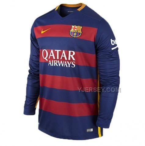 http://www.yjersey.com/1516-barcelona-home-long-sleeve-soccer-jersey-shirt.html Only$32.00 15-16 BARCELONA HOME LONG SLEEVE SOCCER JERSEY SHIRT Free Shipping!