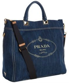 Prada Tote Demin Bag handbags wallets - amzn.to/2ha3MFe - Handbags & Wallets - http://amzn.to/2hEuzfO