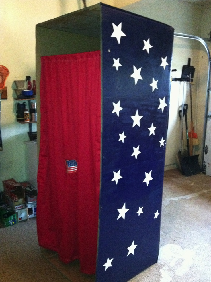 Ideas Of Classroom Decoration ~ Election voting booth classroom design pinterest