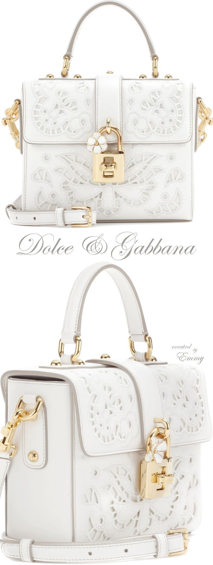 Emmy DE * Dolce & Gabbana Dolce Soft leather shoulder bag