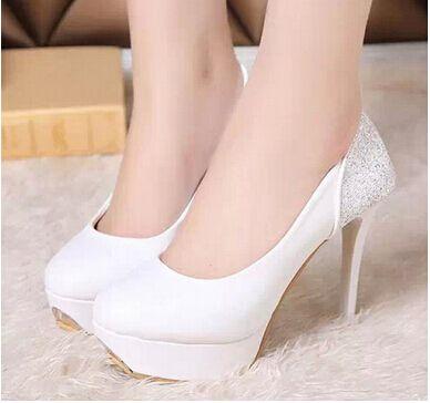 Купить товарВысокие каблуки свадебная обувь женщина zapatos mujer горный хрусталь свадебные туфли женская обувь женщины туфли на высоком каблуке женская обувь свободного покроя высокий каблук белый в категории Туфлина AliExpress.