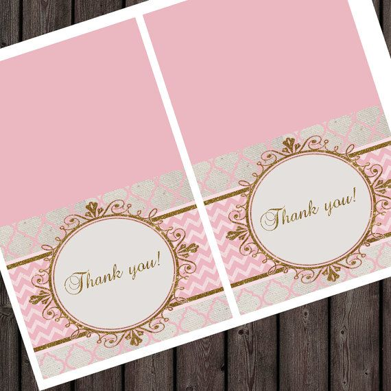 thank you tags royal baby shower or birthday by AmysSimpleDesigns