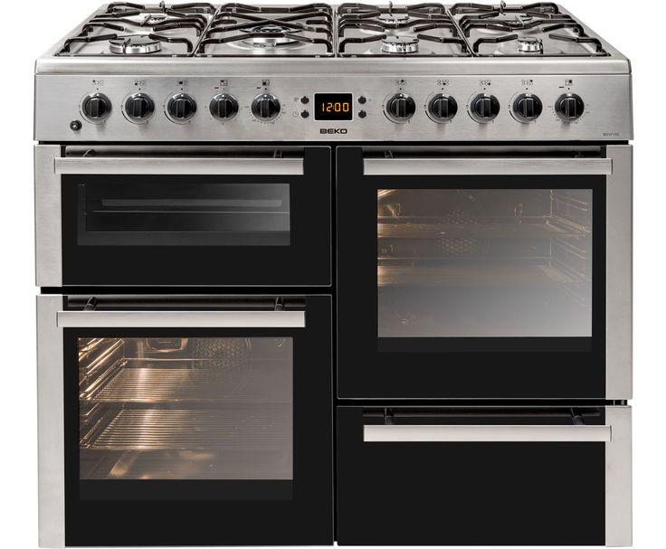 Ordinary Freestanding Range Cookers Uk Part - 4: Beko BDVF100X Freestanding Dual Fuel Range Cooker - Stainless Steel