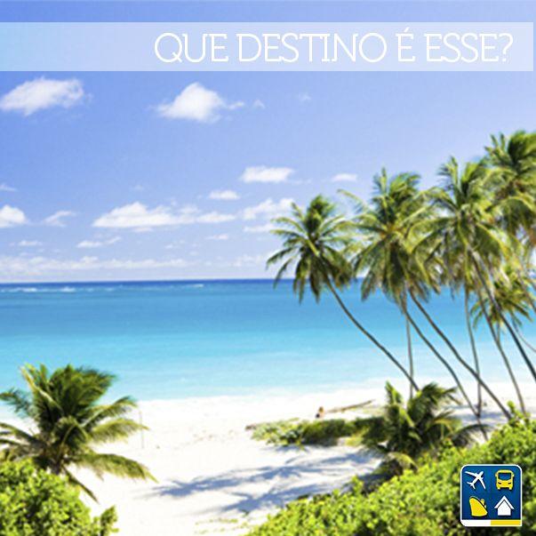 Quem advinha onde fica essa praia paradisíaca?  Dica: o país é uma ilha e é a terra natal de uma grande estrela da música pop atual. RESP: Barbados, Caribe.