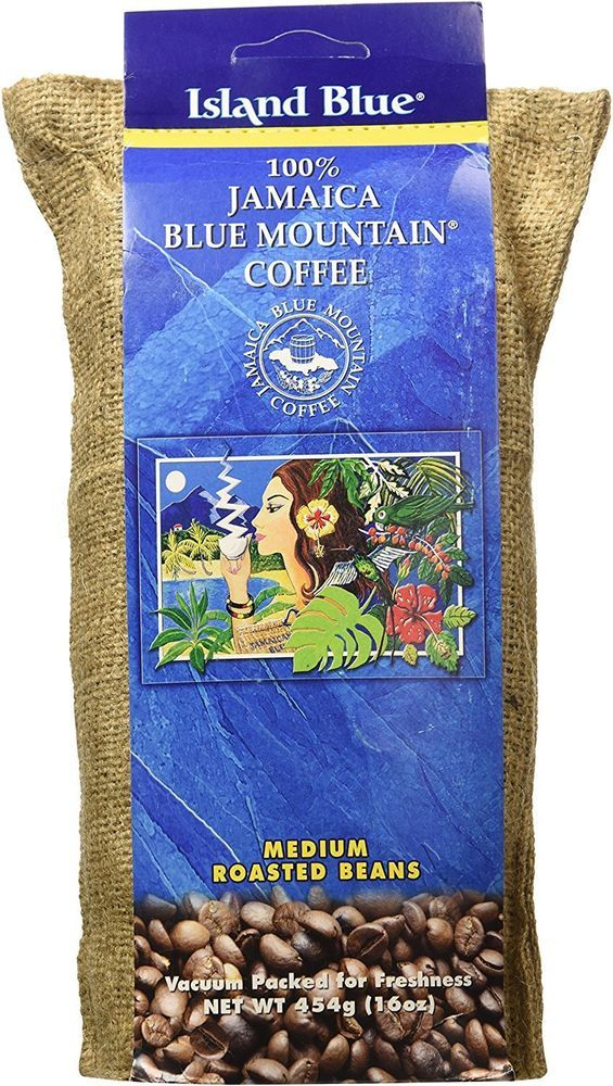 5 island blue 100 percent jamaica blue mountain coffee roasted beans 16 oz each #IslandBlue