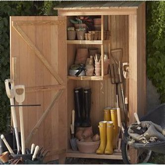 Nice Western Red Cedar Garden Hutch Storage Shed Outdoor Furniture Wood Tool Yard