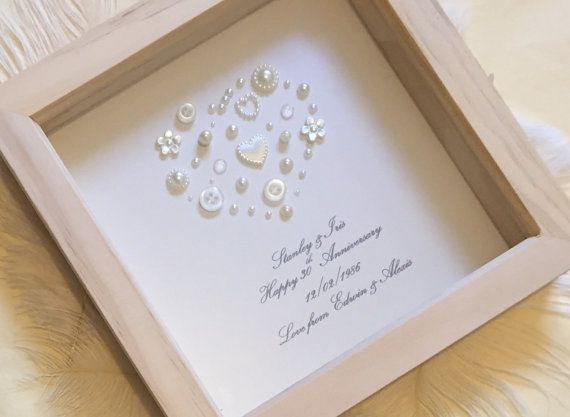 30th Pearl Wedding Anniversary Gift, Pearl Wedding Present