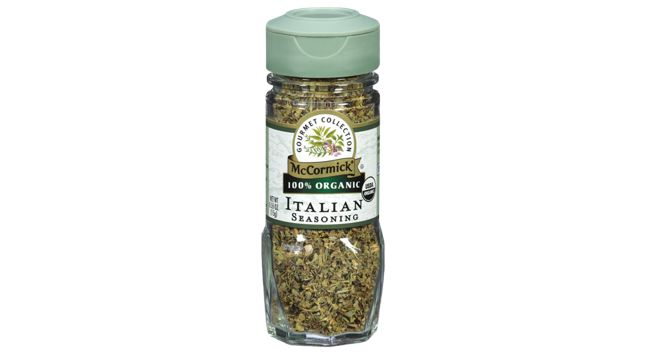 McCormick Gourmet Organic Italian Seasoning--- I've confirmed with McCormick that there is no onion/garlic!