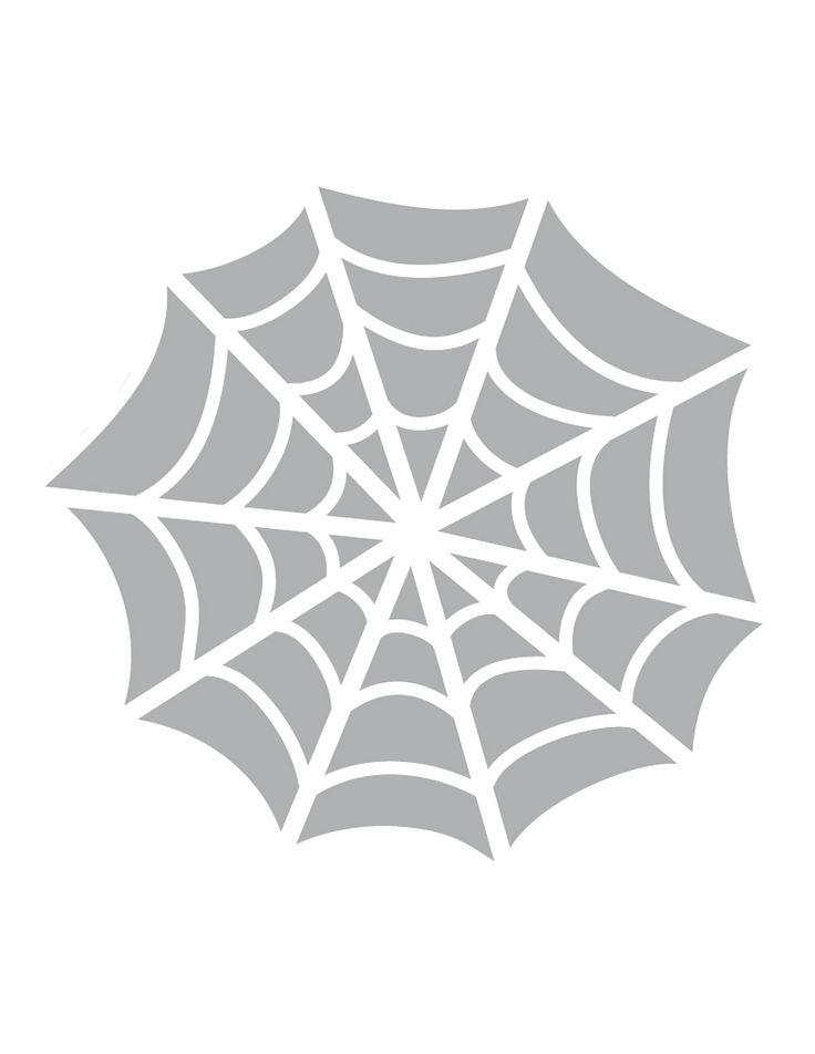 Printable spider web stencil coolest free printables Architecture pumpkin stencils