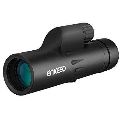 Enkeeo - 8 x 30 Telescopio Monocular Óptico con Trípode Flexible (Multi-revestido, 183mm/1000m campo de visión, observación de fauna, Acampada, Deporte de Puntería, Concierto, Vigilancia)