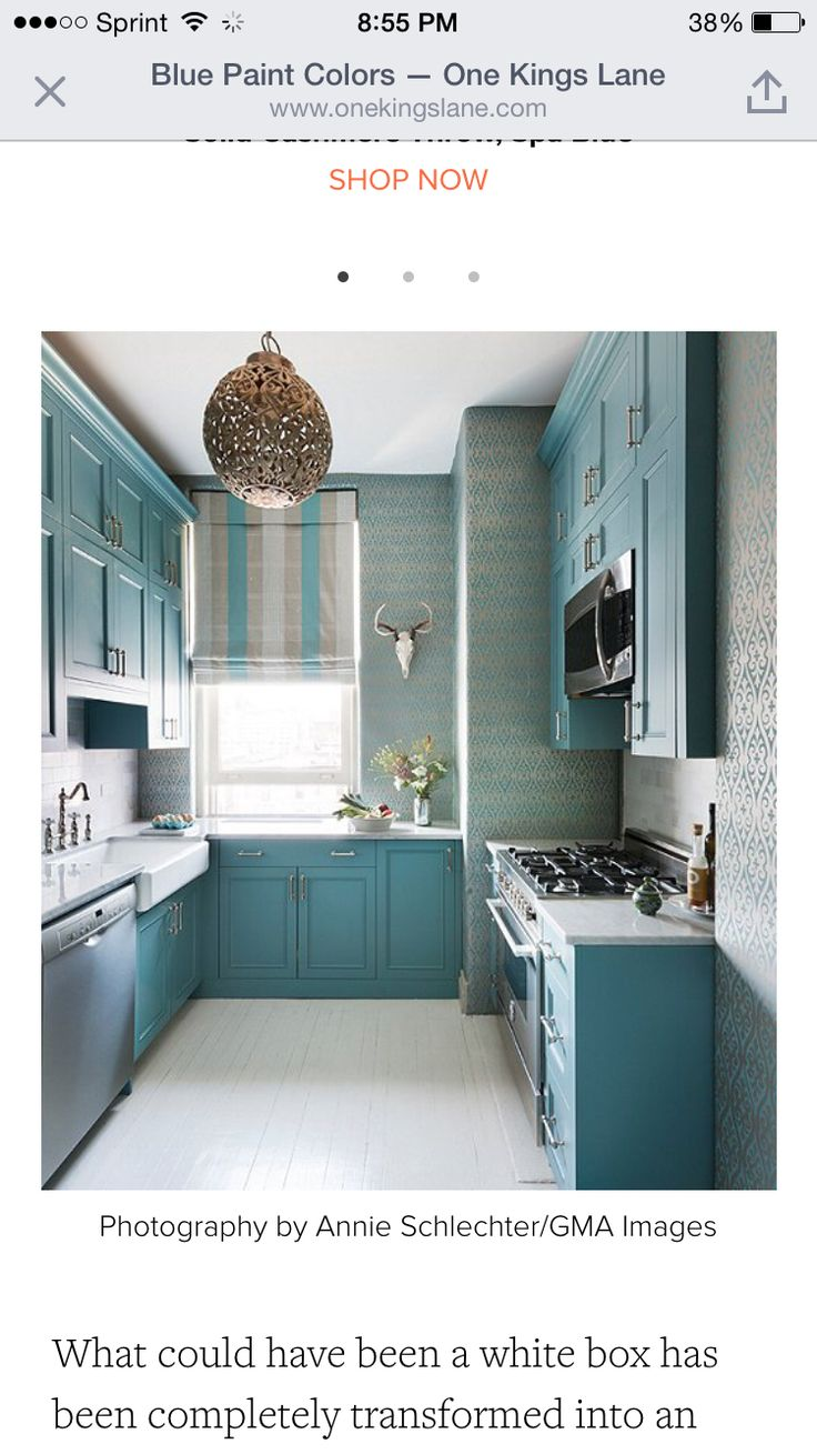Painted cabinets.