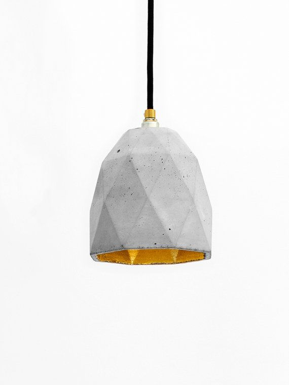 Concrete hanging lamp [T1] Lamp Gold failed rare designer lamp