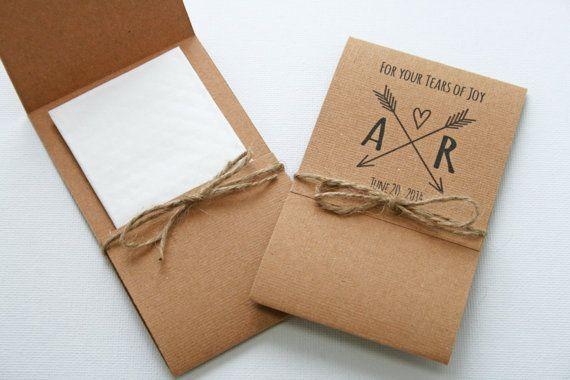 Set of 50 Tears of Joy Tissue Packs by PetiteFlowersStudio