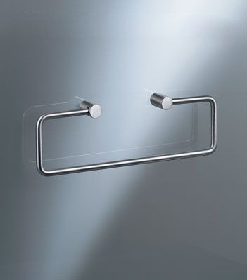 Master Bath: Towel ring VOLA T15BP