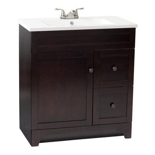 Shop Foremost 32 In X 18 In Highland Walnut Bathroom