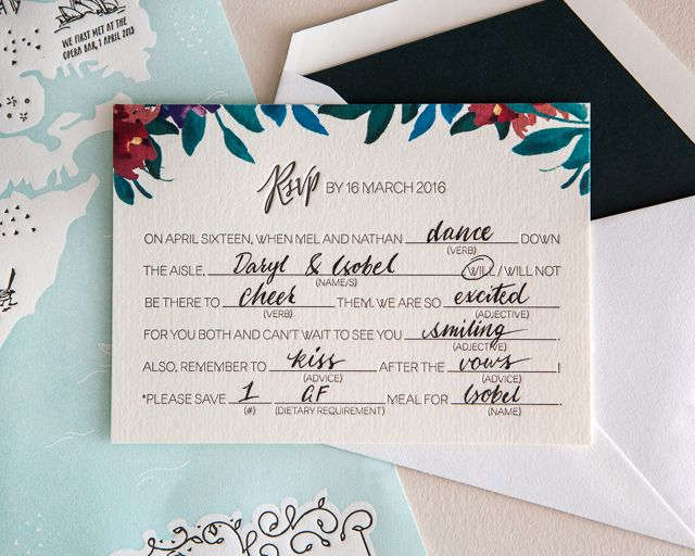 25 best ideas about Wedding Reply Cards