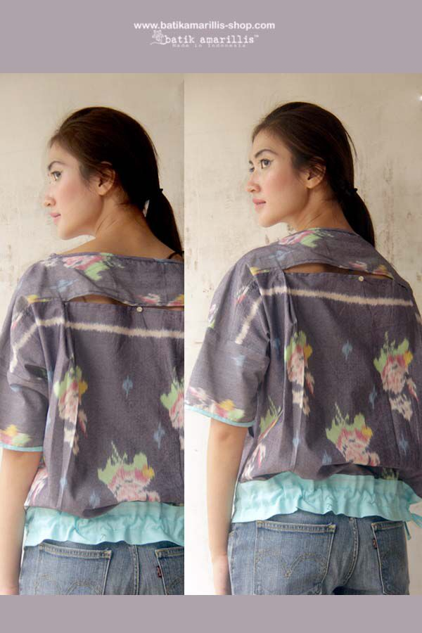 Peek-A-Boo Blouse  ...Comfortable ,Breathable ,super smart and quirky blouse which you can style the cute little slit at back ,you can close or open it it's your choice ,it's super FUN !  it has 2 deep pockets,long cords in the hem so you can style and shape it the way you want.