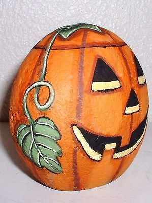 CARVED-HAPPY-FACE-PUMPKIN-HAND-PAINTED-ROCK-HALLOWEEN-DECOR-VIVIAN-ALLEN