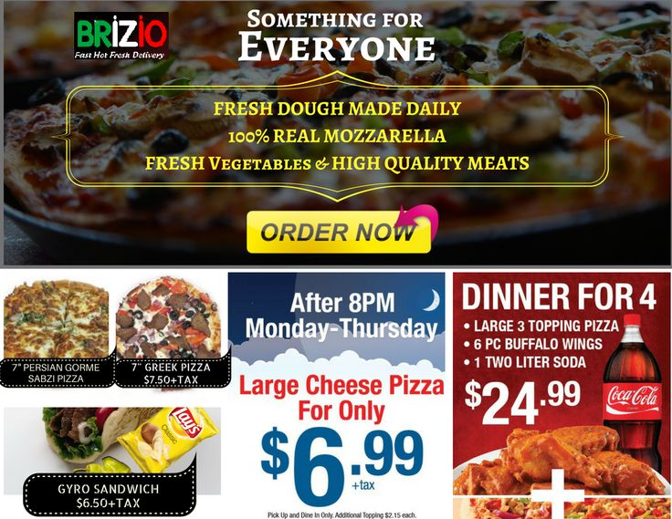 Brizio Special - Something for Evryone	Fresh dough made daily 100% real mozzarella fresh vegetables & high quality meats.	#pizza near me, #pizza delivery near me, #pizza delivery lake forest, #pizza delivery in lake forest, #pizza delivery in lake forest california, #pizza delivery in lake forest ca, #24 hour pizza delivery lake forest, #pizza delivery, #pizza places near me, #pizza restaurants near me, #pizza near me now, #pizza restaurants, #order pizza online, #delivery pizza near me…