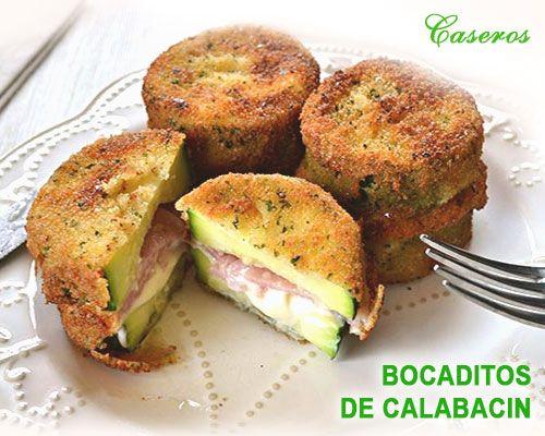 deliciosa receta de bocaditos de calabacín con jamón y queso. una receta perfecta para que nuestro niños coman verdura les encantará
