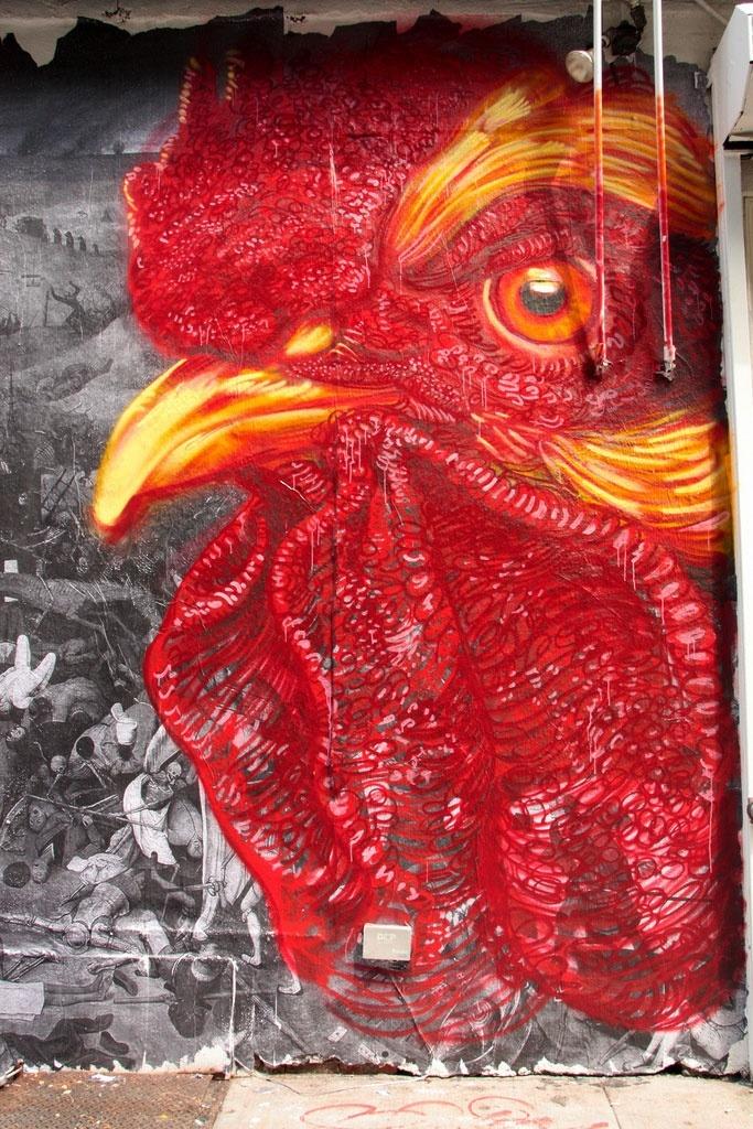 Street art by Gaia