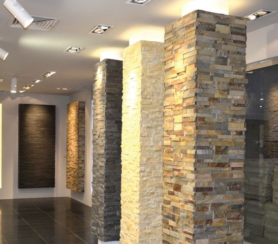 Interior Stone Columns : Best images about interior stone cladding on pinterest