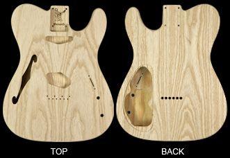 Warmoth Custom Guitar Parts - Thinline Tele Body