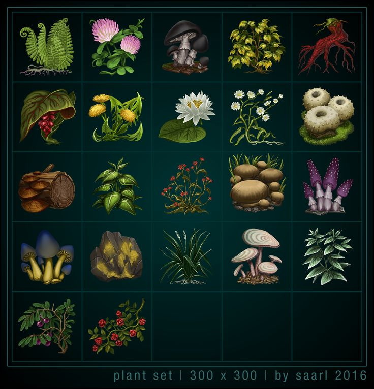 ArtStation - Plant Icons, Sylwia Smerdel