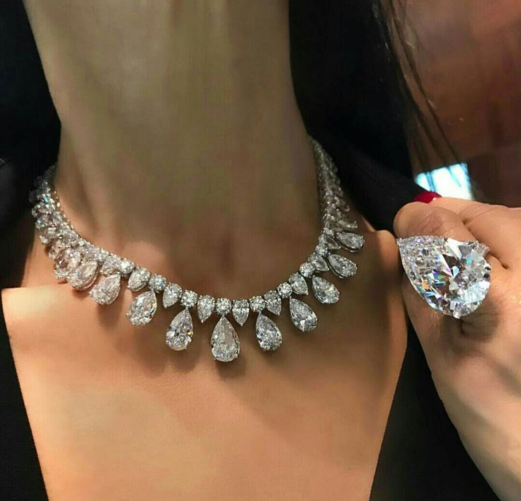 Details about 925 Sterling Silver Cz White Pear Round Women Necklace Ring Set Cocktail Party