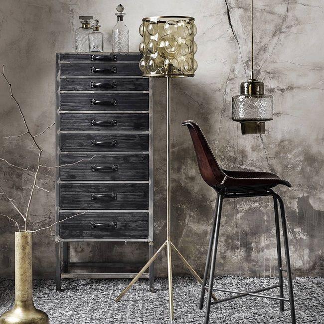 Industrial Bedroom Furniture, Nine Drawer Chest