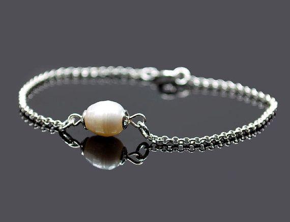 NEW  Beautiful women bracelet Tiny PEARL by euforioHandmade