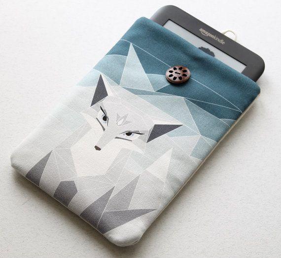 Polar Fox Kindle couverture, disponible pour manchon de Kobo, couverture de Nook, Nexus 7 cas, Kindle Fire, tablette de 7 pouces, Sony Reader sur Etsy, $21.44 CAD