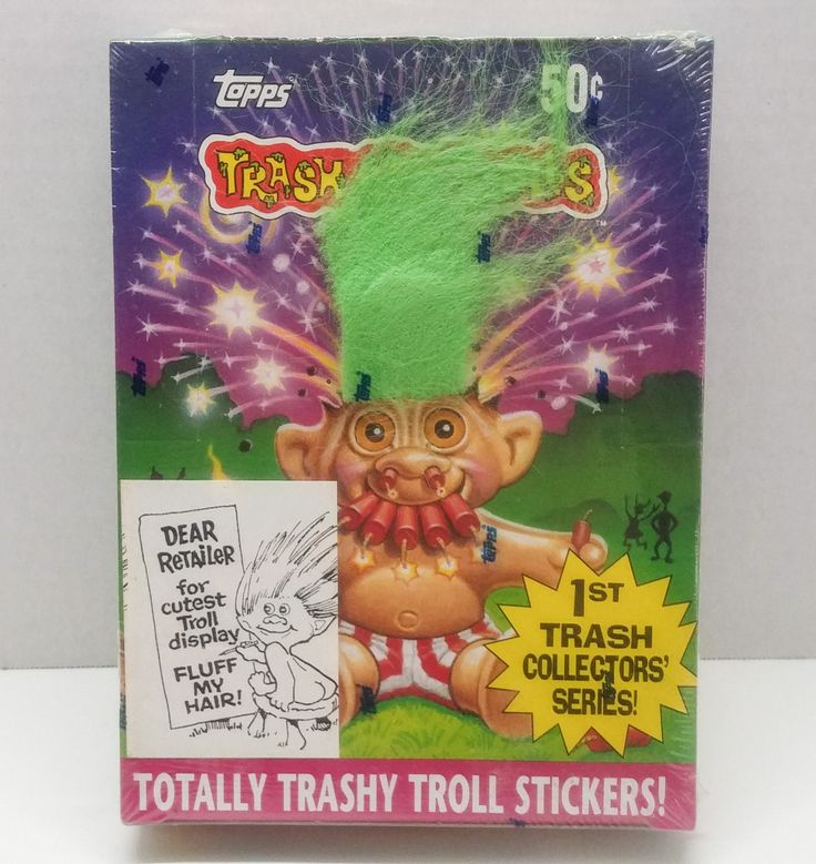 Topps Totally Trashy Troll Stickers 1992 1st Trash Collector's Series 36 Count by TheVintageSasami on Etsy