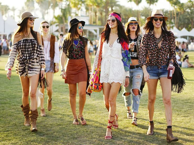 Proof that the most stylish festivalgoers don't leave home without a hat, a headscarf, and a few fringe details at Coachella.