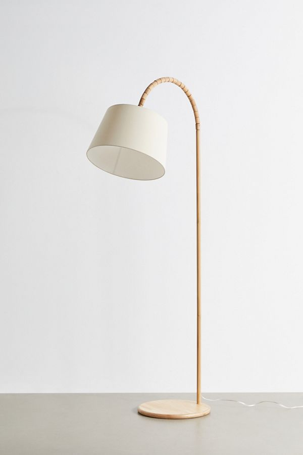 Marcella Arc Floor Lamp In 2020 Arc Floor Lamps Floor Lamp Rattan Floor Lamp