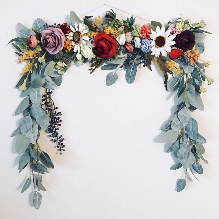 Floral Garland, Floral Wall Hanging, Floral Backdrop ...