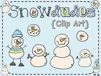 FREE Clip Art:  Snow Dudes