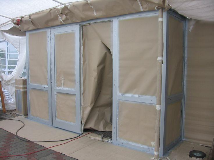 Nově profesionálně nalakované hliníkové profily dveří, #oprava, #lakování, #dveře, #zárubně, #obložky, #repair, #Instandsetzung, #Reparatur, #okno, #aluminium, #elox, #hliník