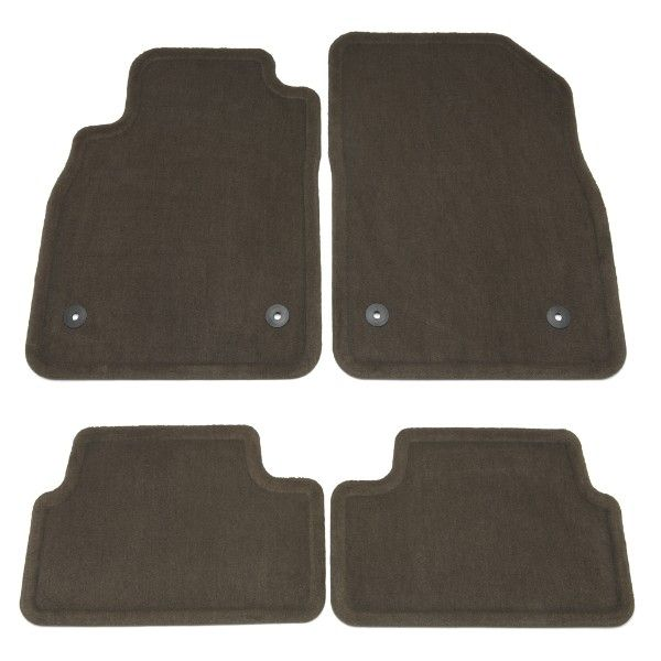 Cruze Floor Mats, Front/Rear Carpet Replacements, Cocoa:These Front and Rear Carpet Replacement Floor Mats mimic the shape of your Cruze to provide superior fit and protection.