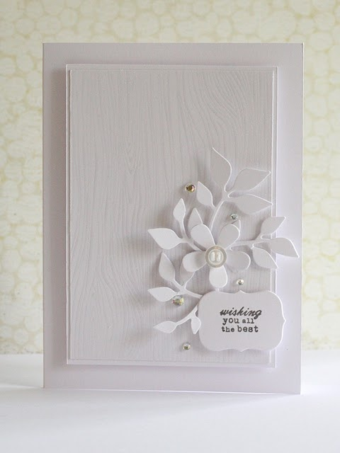 Stunning! by debby @ Lime Doodle: White Flowers, Wedding Cards, Limes Doodles, Cards Ideas, White On White, Papertrey Ink, Cards Inspiration, White Cards, Debbie Hugh