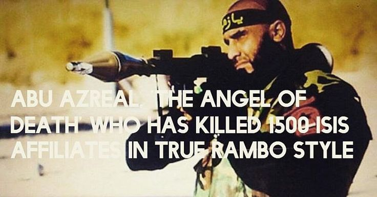 Every war needs a poster boy and it seems Iraqs war againstISISjust got its own hero delivered in the form of mercurial Abu Azrael. The name Abu Azrael roughly translates to The Angel of Death in Arabic and correctly so because the Iraqi soldier has so far killed almost 1500 ISIS affiliates.  The 40-year-old named Abu Azrael (real name: Ayyub Faleh al-Rubaie) is a former Taekwondo champion and the current Shia commando of Kataib al-Imam Ali one of the most fierce enemies of ISIS fighting in…