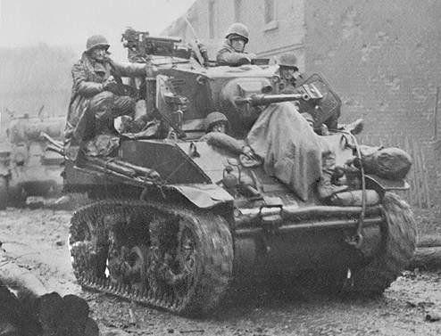 Image result for us stuart tank bastogne